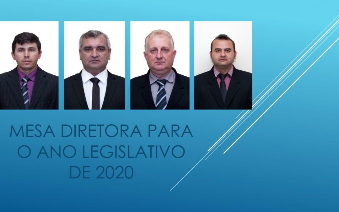 Eleita a Mesa Diretora que vai conduzir os trabalhos da Câmara Municipal de Cruz Machado no período legislativo de 2020!