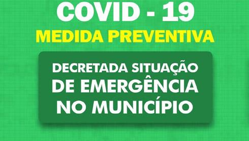 Prefeito declara situação de emergência no Município de Cruz Machado para Enfrentamento do Coronavírus (CODIV-19).
