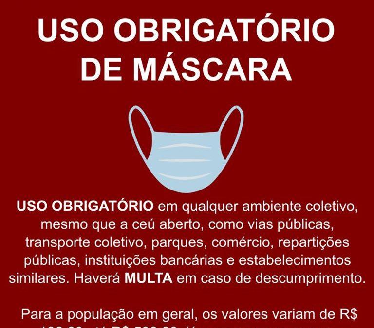 Uso de máscara em locais públicos é obrigatório em todo o Paraná!