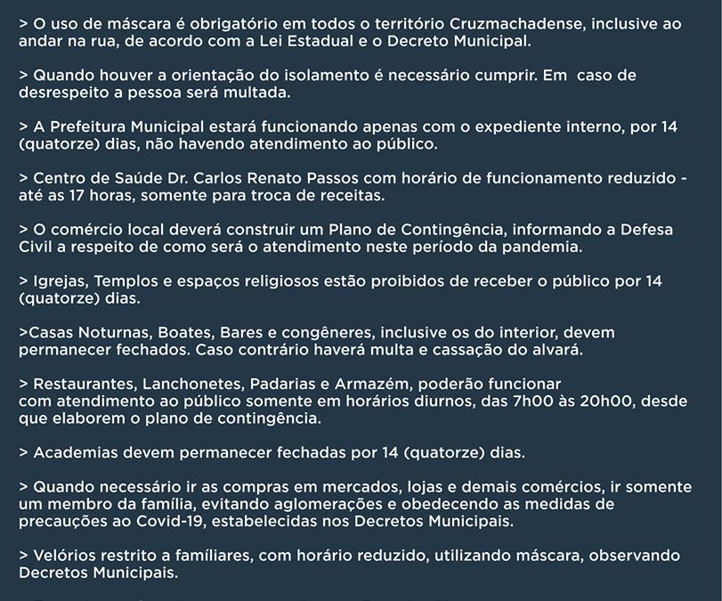 Informativo COVID-19 Cruz Machado!
