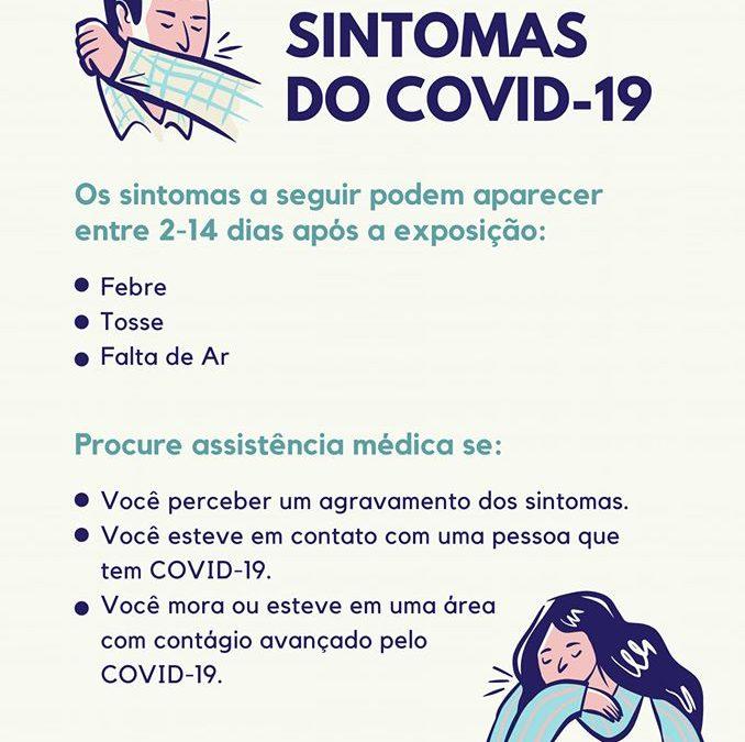 Quais os sintomas do Coronavírus? Confira os sintomas mais comuns.