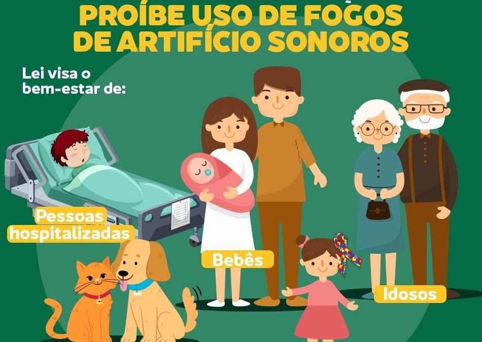 Lei nº1.737/2021 proíbe a utilização, a queima e a soltura de fogos de artifícios com estampido (barulhentos) em Cruz Machado!