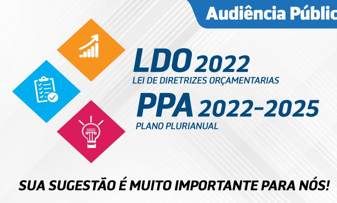 CONVITE PARA AUDIÊNCIA PÚBLICA LOA (2022) e PPA (2022 a 2025) DIA 27 DE SETEMBRO